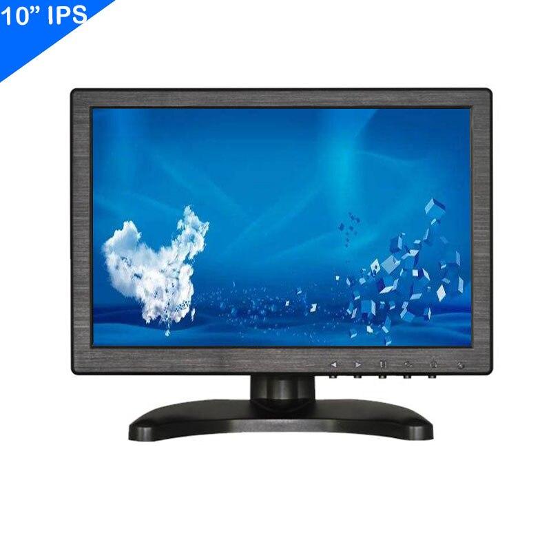 ZHIXIANDA 10 بوصة IPS 1920x1200 سيارة CCTV DVR المجهر شاشات كريستال بلورية مع BNC HDMI AV VGA USB المدخلات