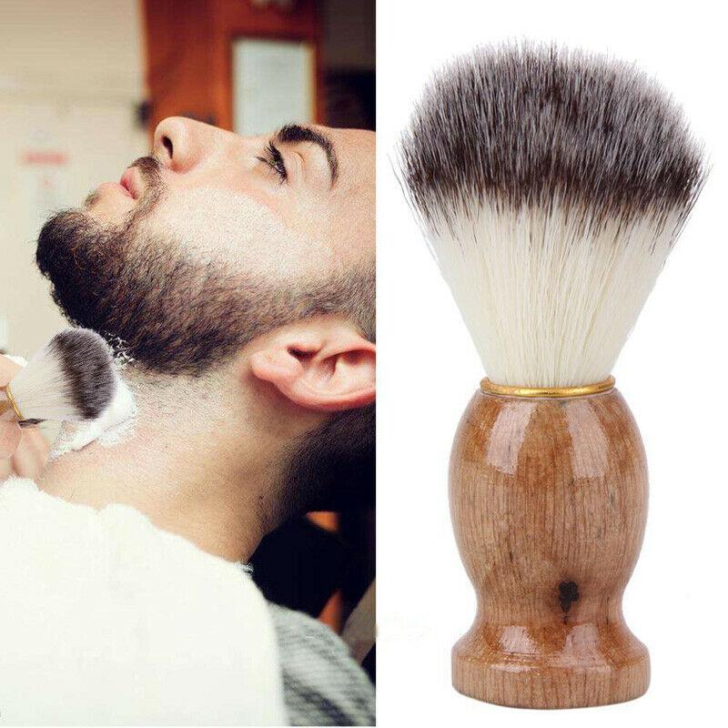 Mini männer Weiche Haar Bart Pinsel Reine Badgers Holz farbe Haar Entfernung Bart Rasieren Pinsel Für Herren Rasur Werkzeuge kosmetische Werkzeug