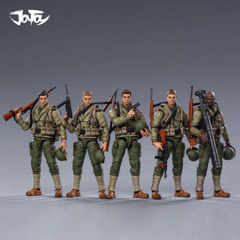 JOYTOY-شخصيات الحركة من الحرب العالمية الثانية ، 1/18 ، جندي الفرقة الجوية USMC/جندي الفرقة ، نموذج عسكري ، هدية الكريسماس ، شحن مجاني