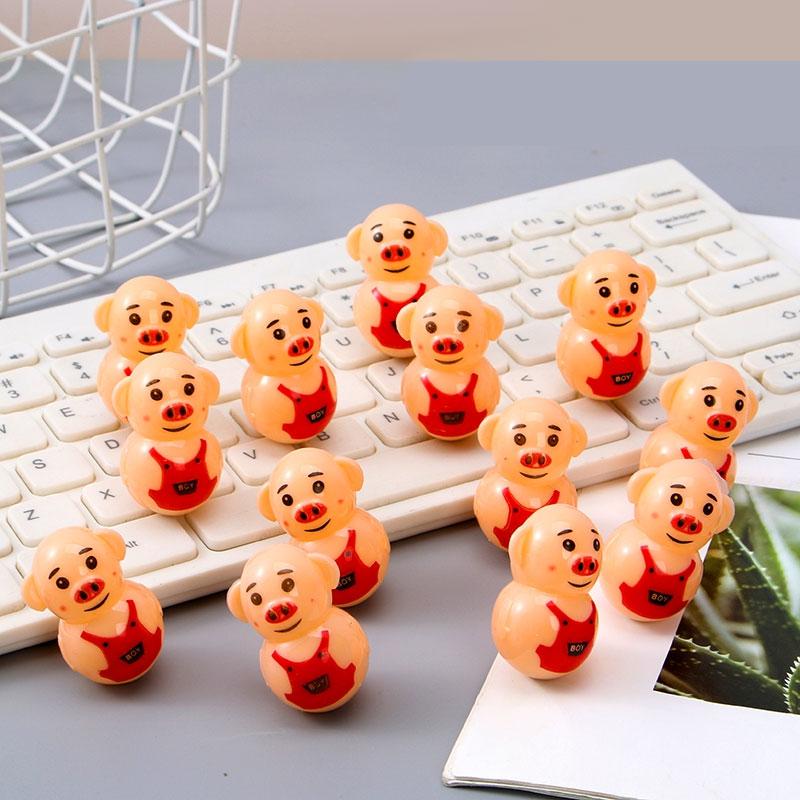Мини свиньи игрушки неваляшки классические милые смешные детские модные подарки Прекрасный Копилка Обучающие Развивающие Игрушки Гаджеты...