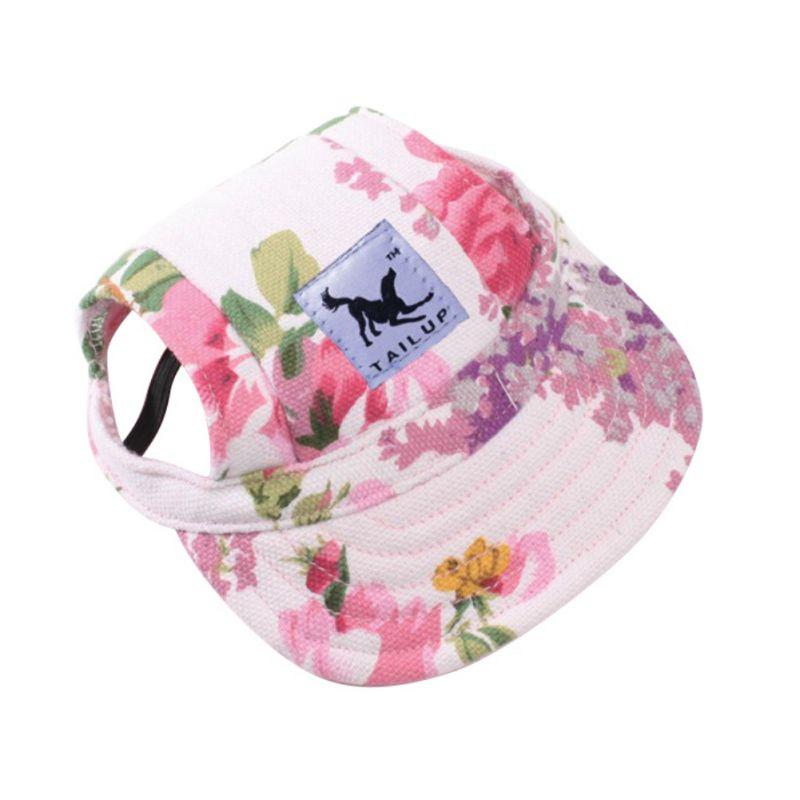 Adorable gorro para perro de princesa transpirable con agujeros para las orejas/sombrero de Sol de malla/sombrero de playa para cachorros pequeños productos para mascotas de verano 10 estilos