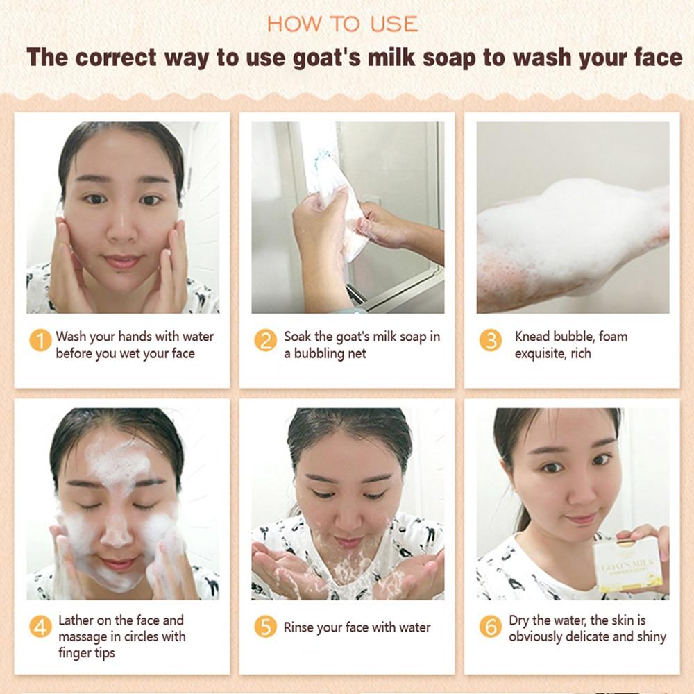 Natural Goat Milk Soap Rose Honey Lavender Essential Oils Soap for Face Skin Care Moisturizing Oil Control Body Bath Foam Soaps
