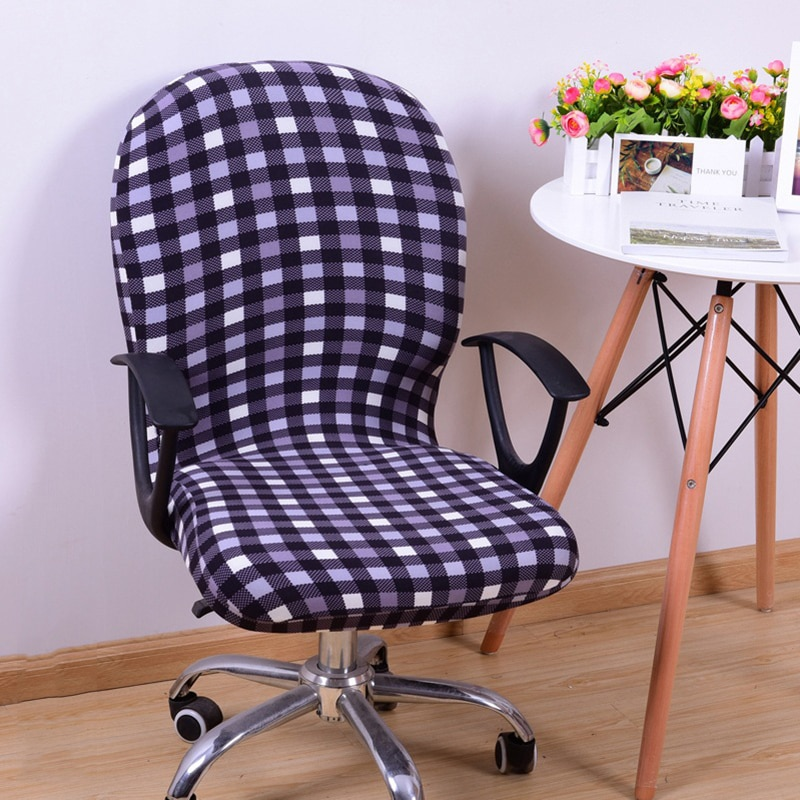 Фото - Spandex Office Computer Chair Cover Stretchable Rotate Swivel Chair Covers1 Pcs straight stretchable chair cover 4 pcs black