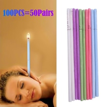 100pcs/set Healthy Care Ear Candle Ear Treatment Ear Wax Removal Cleaner Ear Coning Treatment Indian