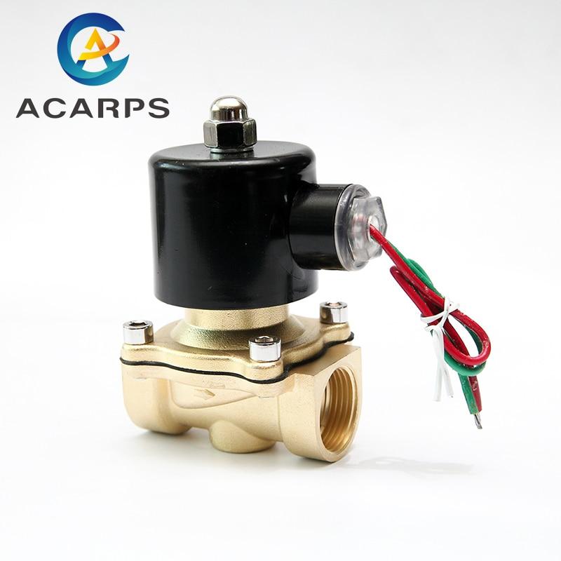 "1/2 ""3/4"" niedrigen Druck 10bar Messing Wasser Gas Magnetventil 24VAC 110VAC 12VDC EPDM Dichtung"
