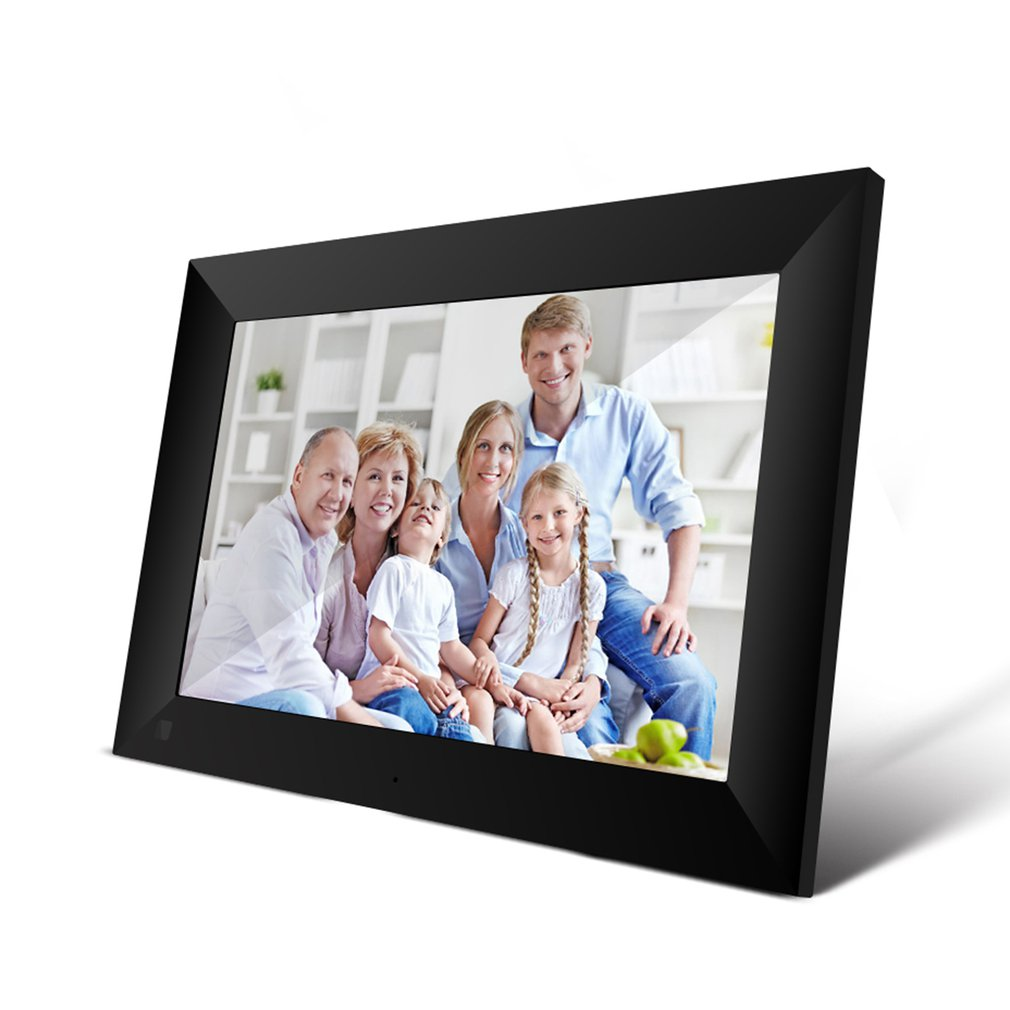 P100 WiFi 10.1Inch Digital Picture Frame 1280x800 IPS Touch Screen 16GB Smart Photo Frame APP Control w/ Detachable Holder
