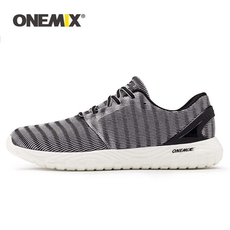 ONEMIX 2020 الرجال خفيفة الوزن احذية الجري في الهواء الطلق أحذية للمشي المشي أحذية رياضية مرنة لينة الصيف تنفس أحذية رياضية