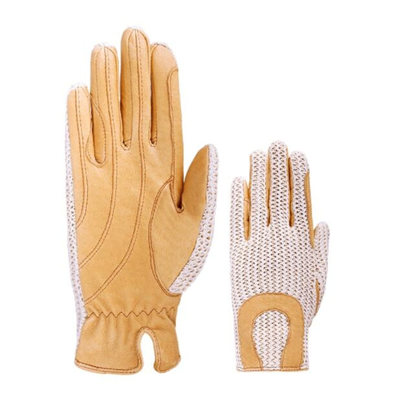 Cavassion Equestrian Pig Leather Gloves Anti-slip Hand Gloves when Knight Riding Horse Horse Riding Saddlery Equipments