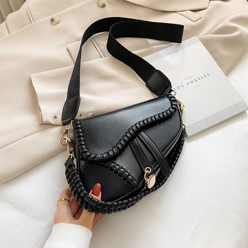 Luxury Designer Saddle Bag For Women 2020 Crossbody Shoulder Bag Brand Handbags and Purses Fashion Small Female Messenger Bags