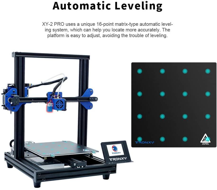 Tronxy XY-2 برو لتقوم بها بنفسك طابعة ثلاثية الأبعاد UL شهادة امدادات الطاقة مع استئناف وظيفة الطباعة القابلة للإزالة بناء سطح لوحة 255x255x260