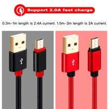 Gros Micro USB câble 10 pièces/lot 20 pièces/lot 50 pièces/lot 100 pièces/lot 0.3m 1m 1.5m 2m 3m pour Samsung Xiaomi Andriod Micro usb câble