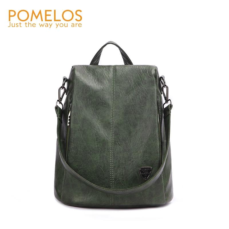 POMELOS рюкзак женский pu кожаный рюкзак сумка Противоугонный высококачественный мягкий рюкзак городские модные рюкзаки для девочек женщин