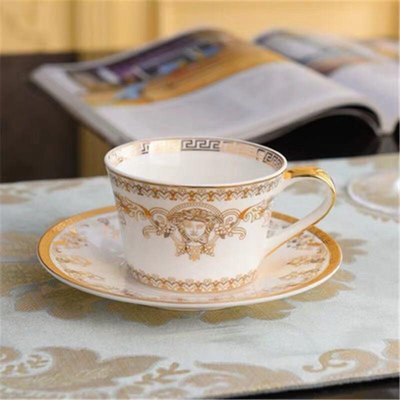 Ceramic Mugs Creative Mugs with Spoon & Tray Breakfast Milk Coffee Cup Drinkware Tea Cup Kitchen Bar Drinks Wedding Gift 220ML