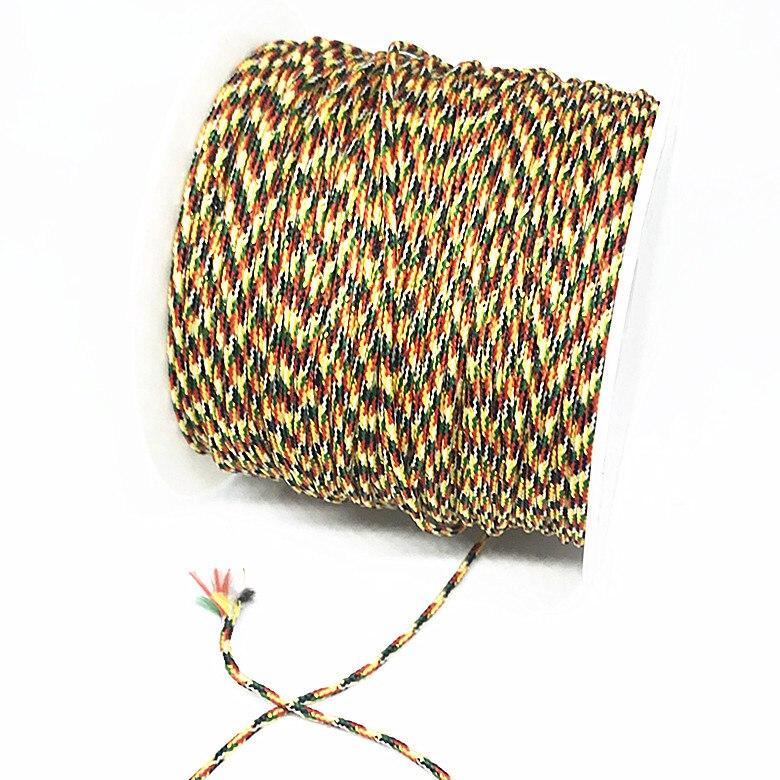 10mts «сделай сам», плетеный трос с рисунком, пятицветный провод, цветной резьбовой браслет, плетеный провод, автомобильный шнурок