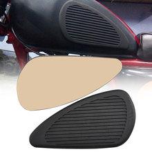 Autocollant protecteur antidérapant en caoutchouc noir   Pour Moto, noir, gaz et huile, pour réservoir de carburant, accessoires de Moto universels