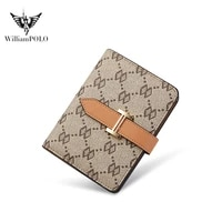 williampolo new small purse womens fashion simple short british style wallet multifunctional multi card card package pl208120