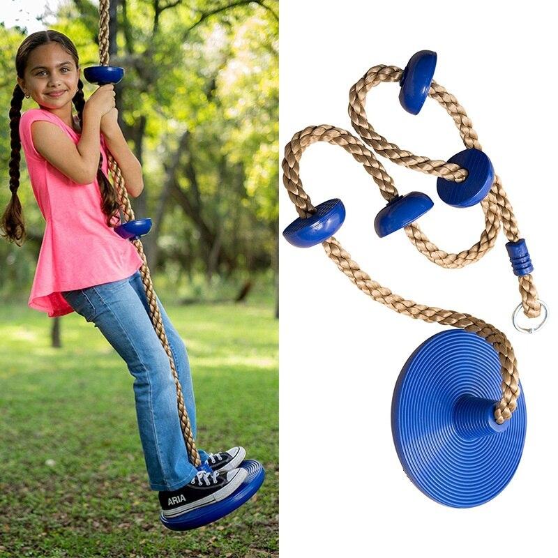 Esportes ao ar livre jardim de infância brinquedo escalada disco balanço assento corda escalada engraçado corda balanço equipamento de escalada brinquedos