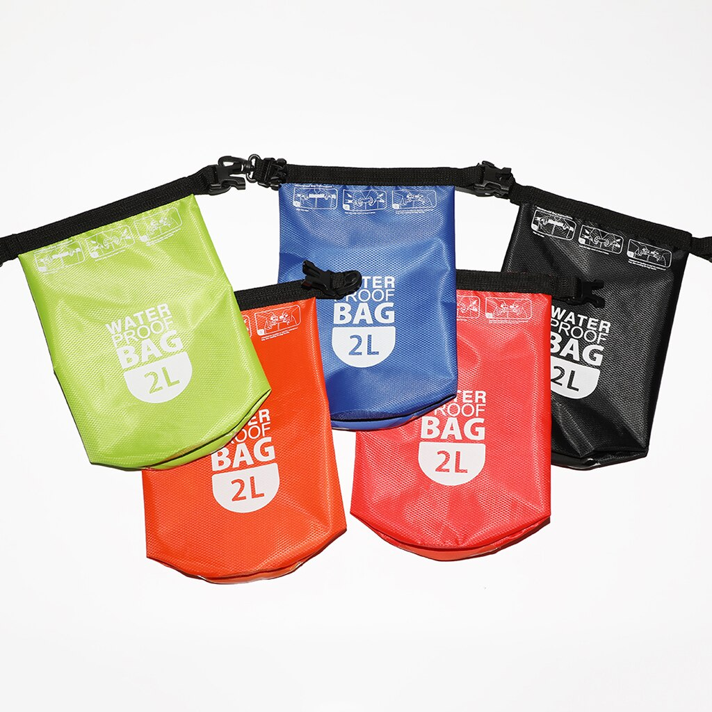 Waterproof Dry Bag - 2L Roll Top Dry Compression Sack - Keep Gear Dry and Safe - Lightweight & Porta