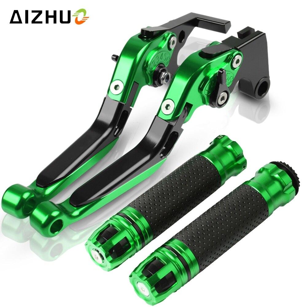 Para KAWASAKI ZZR1400 ZX1400 ZZR ZX 1400 ZX14R ZZR 1400 2006-2016, palancas de embrague de freno extensibles y plegables para motocicletas