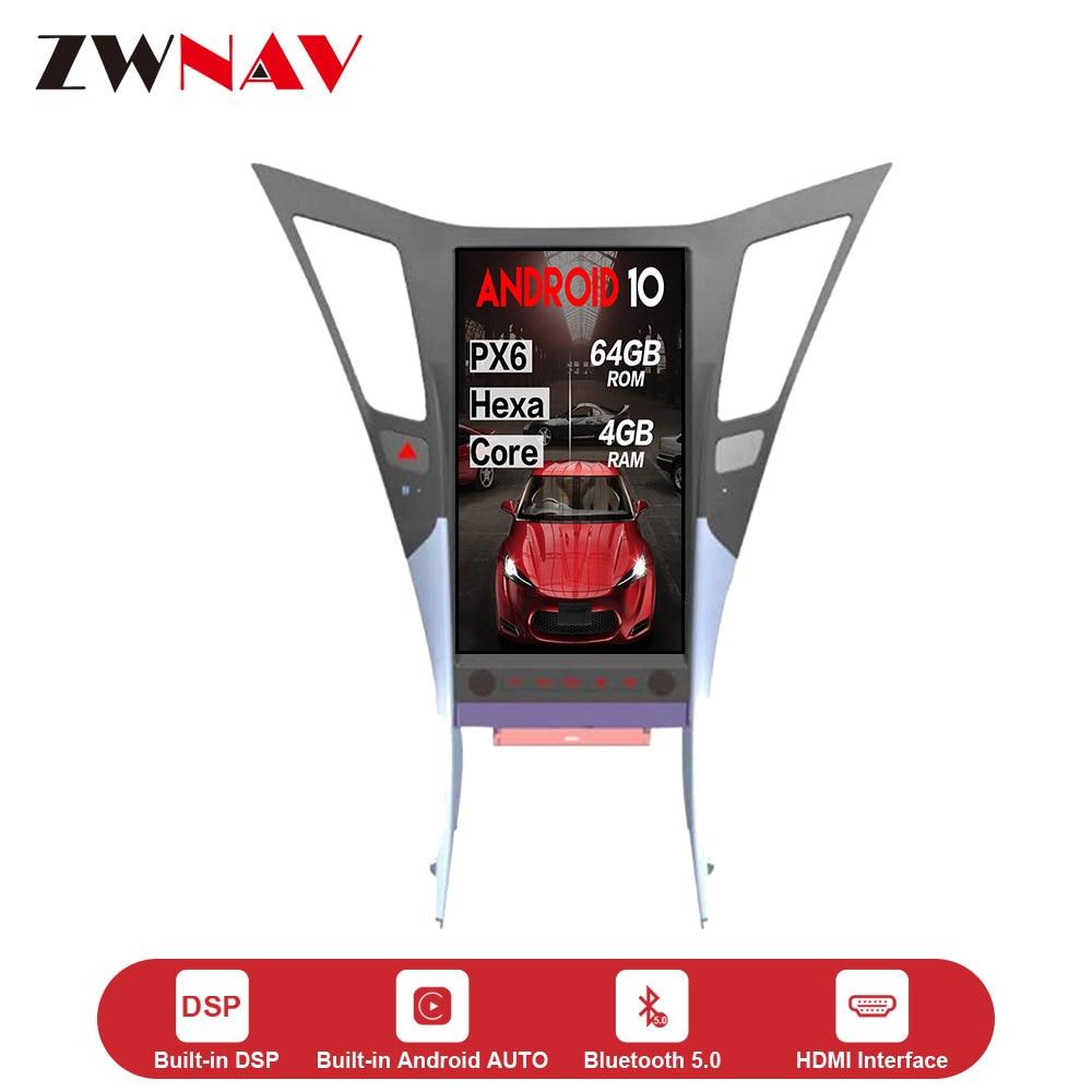 Tesla de pantalla vertical 4 + 64G Android 10,0 coche Multimedia Player GPS para HYUNDAI SONATA 2010-2014 GPS Navi Radio Estéreo unidad de cabeza