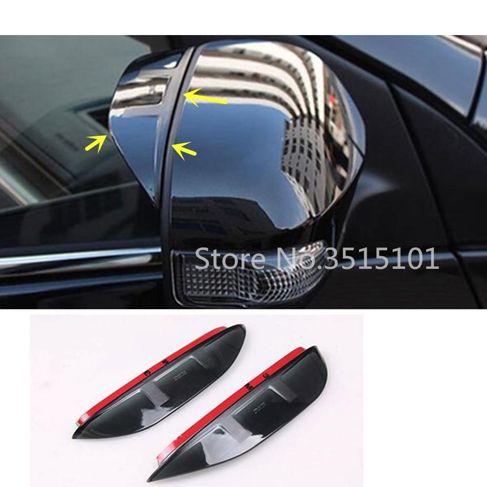 Espejo retrovisor trasero para coche, Escudo de cejas para lluvia, visera de plástico para Toyota Corolla Altis 2017 2018 2019