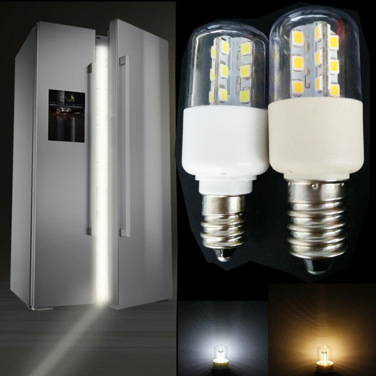 Lâmpada de cristal led para forno de micro-ondas, 3w, e14, e12, smd 5050, fria, quente, branco, ac 110v, 220v