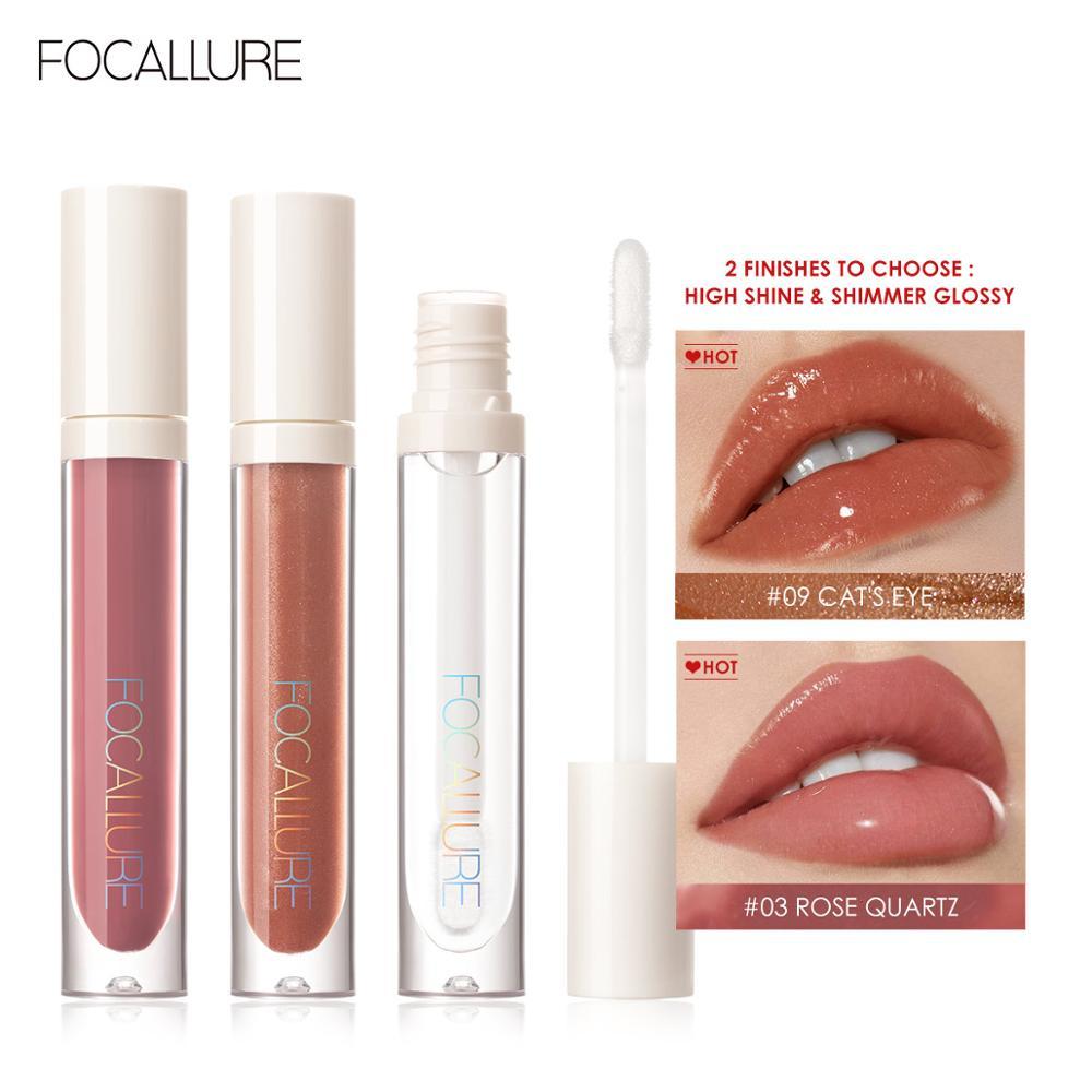 AliExpress - FOCALLURE PLUMPMAX Nourise Lip Glow High Shine&Shimmer Glossy Lips Makeup Non Sticky Plumping Lip Gloss