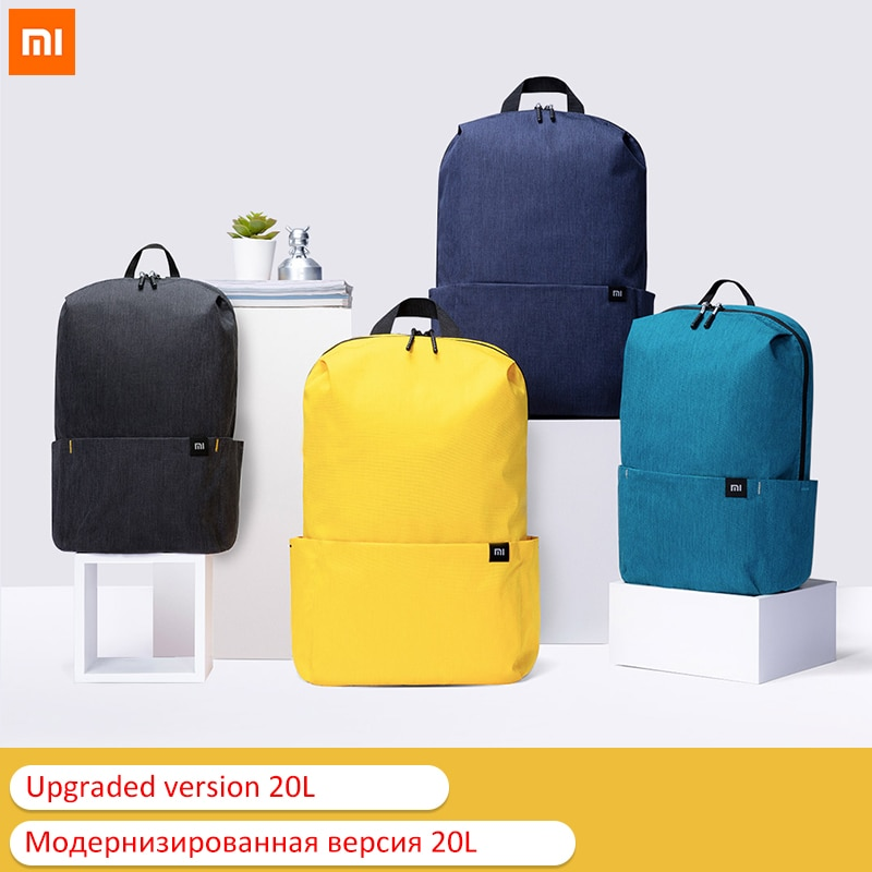 20L Original Xiaomi Backpack Bag Colorful Leisure Sports Chest Pack Bags Unisex For Mens Women Trave