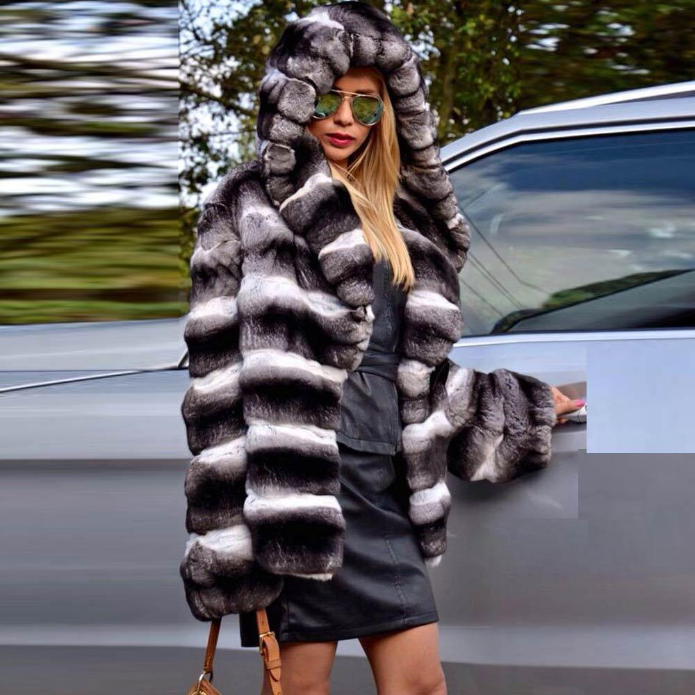 Фото - Женское зимнее пальто средней длины с капюшоном пальто средней длины с капюшоном