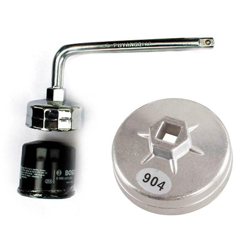 Llave cómoda antideslizante para filtro de aceite de 79mm para Hyundai/Ford/Honda/BMW, aleación de aluminio y plata