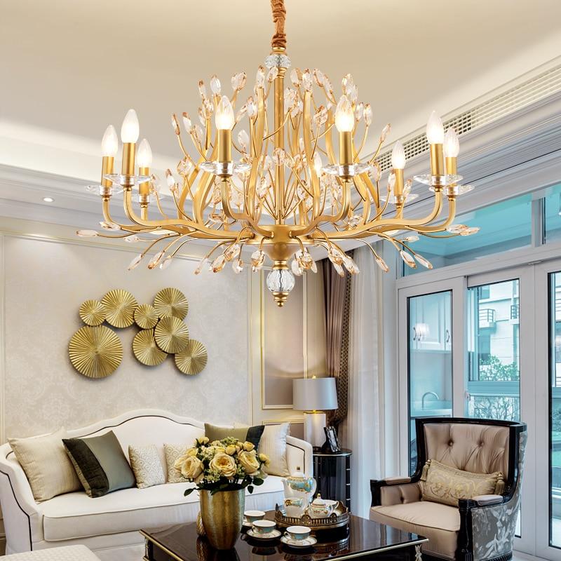 Блеск Современная хрустальная люстра светильник ing Гостиная Спальня подвесные люстры Лофт домашний декор Cristal светильник