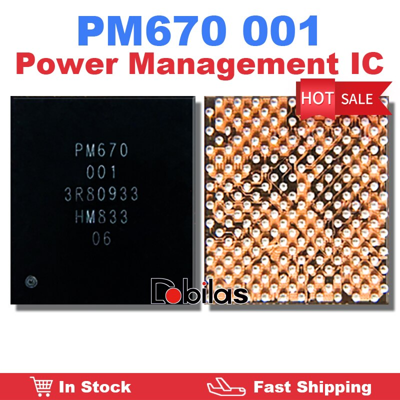 1Pcs/Lot PM670 001 Power IC BGA Power Management Supply Chip Mobile Phone Integrated Circuits Replac