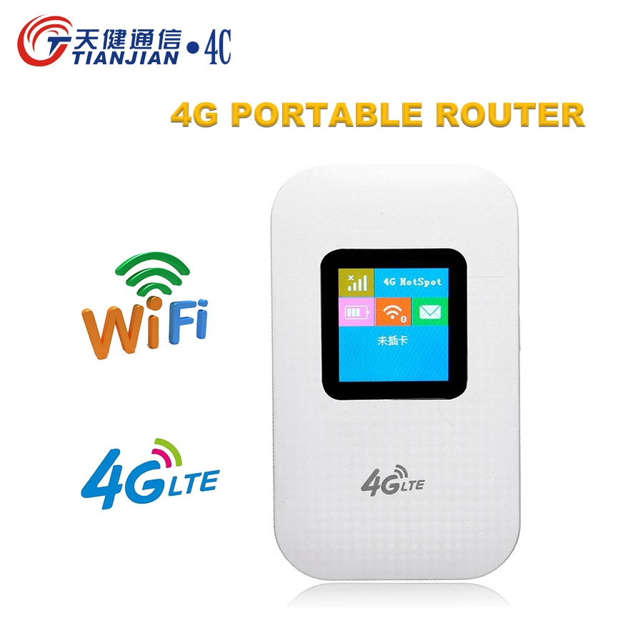 TIANJIE 4G WIFI ROUTER LTE WCDMA GSM Unlocked Wireless Pocket Router Mobile WiFi Hotspot 3G 4G WiFi Router with SIM Card Slot