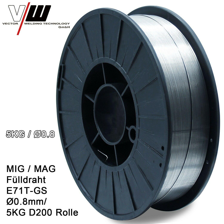 سلك لحام MIG MAG ذو قلب ، 0.8 مللي متر ، 5 كجم ، لفة سلك لحام بدون غاز ، ملحقات آلة لحام MIG