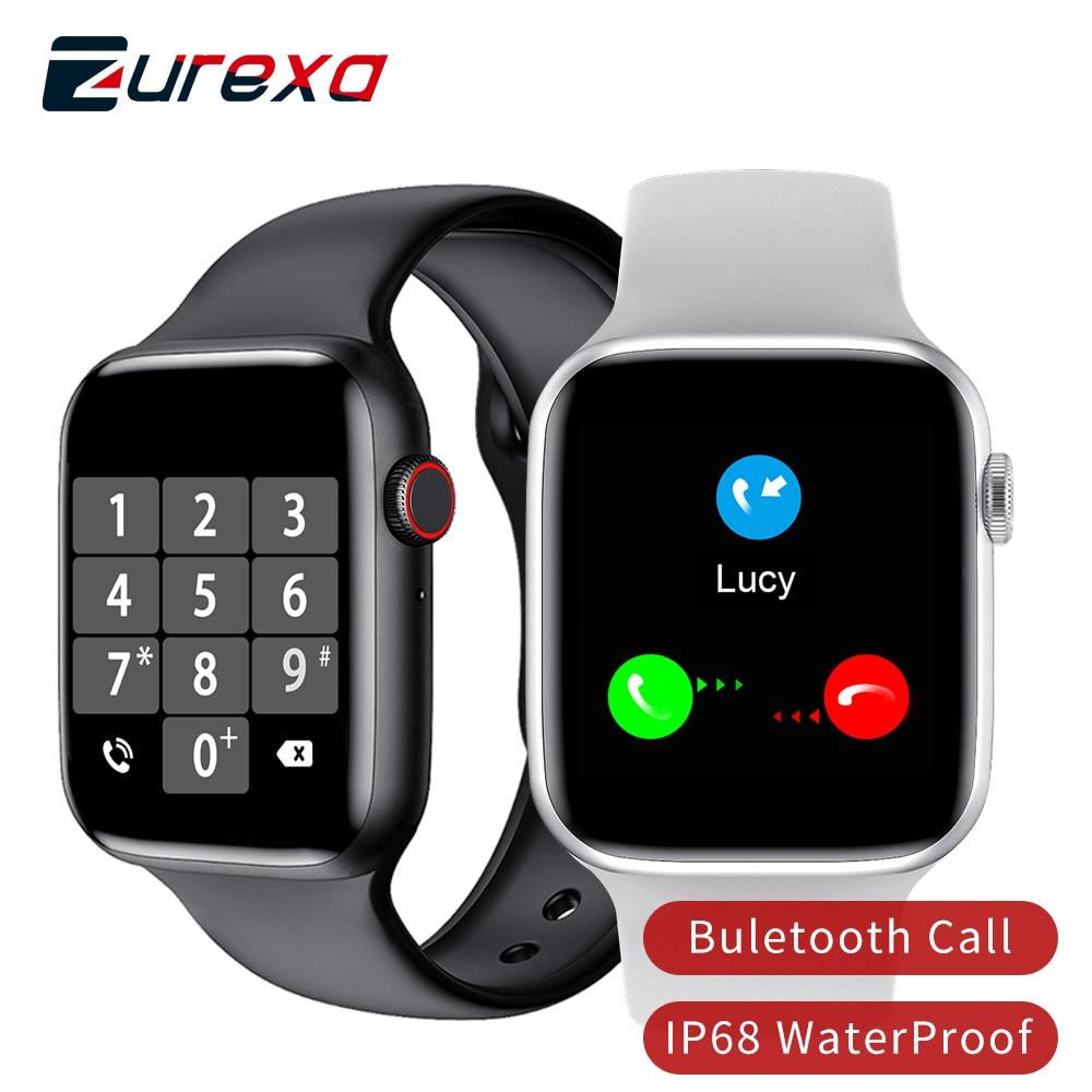 Zurexa Iwo W26 Smart Watch Men Women Buletooth Call Sports 40mm 44mm Iwo 12 Smartwatch Men Ip68 Waterproof Smart Clock For Ios часы smart watch iwo 12 серебристый