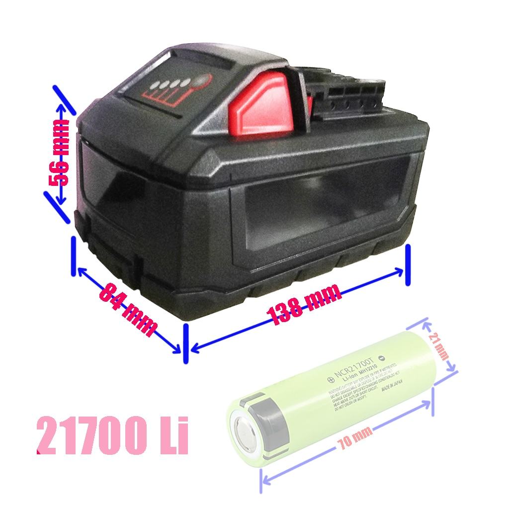 M18-علبة بلاستيكية لبطارية li-ion 10x21700 ، PCB ، لوحة دوائر الحماية ، غلاف لبطارية Milwaukee 18V 20V
