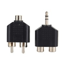 Audio Adapter 3.5mm To 2 RCA Female Male Y Splitter Home Audio Connector Converter Consumer Electron
