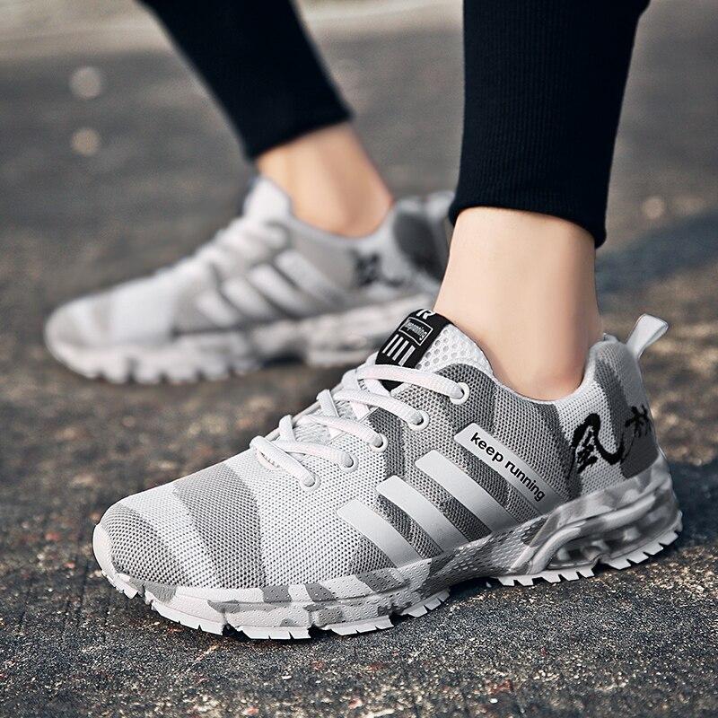 Zapatillas transpirables de camuflaje para correr de talla grande 47, calzado deportivo para hombre, Zapatos cómodos para mujer, Zapatos para parejas al aire libre