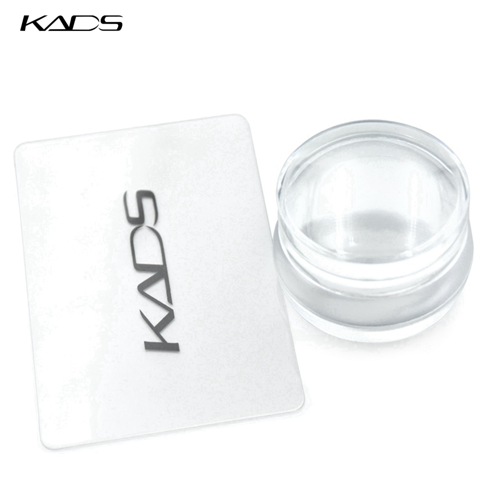 AliExpress - KADS Nail Art Templates Soft Silicon Jelly Clear Refill Head Stamper Nail Stamper Set for Stamping Plate Scraper with Cap