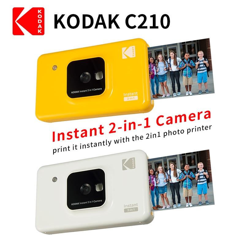 Promo KODAK C210 Instant 2 in 1 Digital Camera Mini shot upgrade version Social Media Portable Photo Printer LCD Display Color Prints