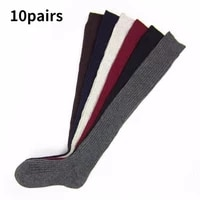 10pairs sexy warm long cotton stocking over knee stocking women winter knee high thigh knitted stockings for lady over the knee