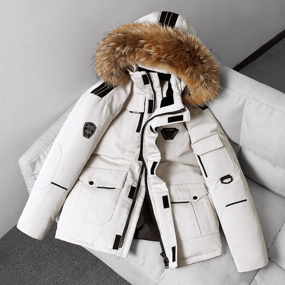 الرجال الحرارية أسفل سترة سميكة سترة منفوخة معطف الرجال عالية الجودة معطف الشتاء سترة الرجال 90% بطة بيضاء أسفل قبعة قابلة للإزالة