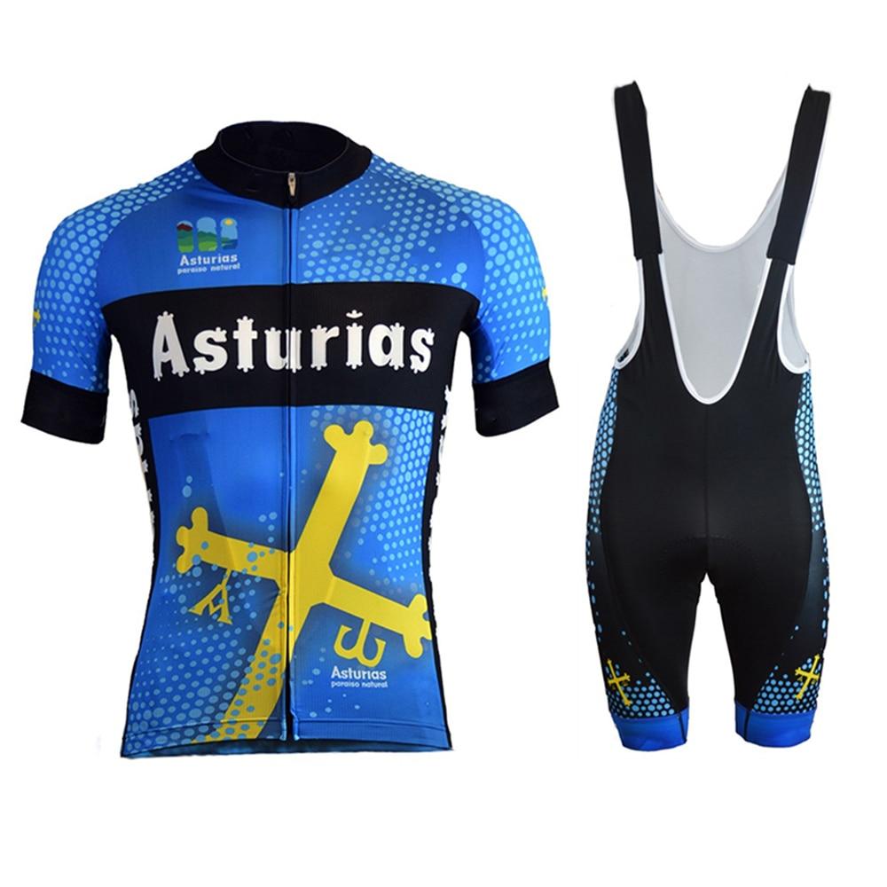 Conjunto de ropa de Ciclismo para hombre, Jersey de manga corta, azul,...