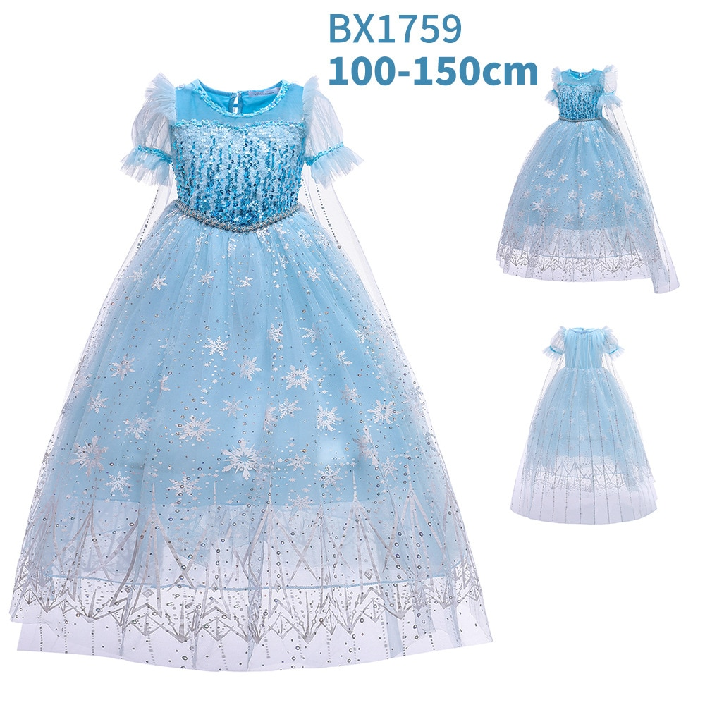 dresses mayoral 10686388 casual dress with short sleeves for girls Princess Blue Short Sleeves Dress for Girl Flower Elegant Girls Dresses Winter Party Christmas Halloween Kids Dresses Clothes
