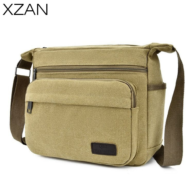 brand canvas casual Casual Men's Messenger Bags 2021 Fashion Canvas Crossbody Bag Hot Brand Traveling Pack Crossbody Bags bolso hombre