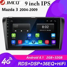 Lecteur multimédia pour Mazda 3 2004-2009 maxx axela   Autoradio, lecteur Navigation GPS 2 din, unité Auto stéréo avec cadre, pour Android 8.1