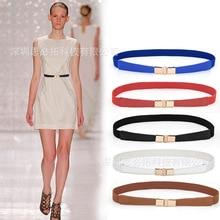 Versitile fashion womens elastic stretch narrow girdle decorative dress WOMENS thin belt multi--a generation of fat