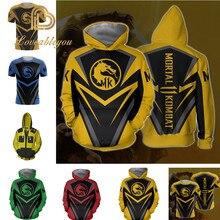 Mortal Kombat X sous-zéro Scorpion T-shirt Cosplay Costume hommes femmes sweats à capuche zippés vestes à capuche Mortal Kombat