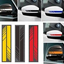 2pcs Rear View Mirror Stickers Arrow Pattern Car Styling PET Car Sticker Rearview Mirror Side Decal