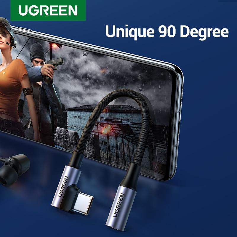 UGREEN 90 grados de USB C a 3,5mm Cable de USB-C 3,5...